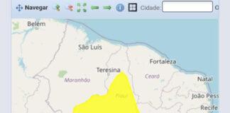 O alerta amarelo é mais brando que o alerta laranja que foi registrado nos últimos dias em todo o Estado.